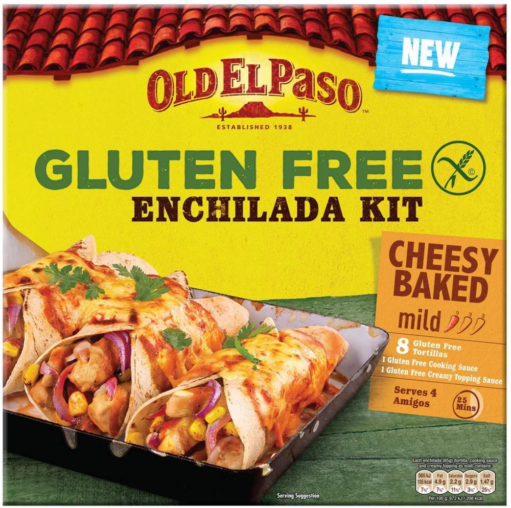 Old El Paso Gluten Free Cheesy Baked Enchilada Kit 518g