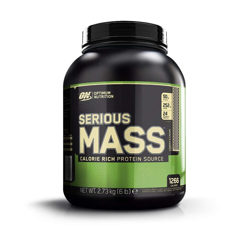 Optimum Nutrition Serious Mass Weight Gain Powder Cookies And Cream 2.73kg