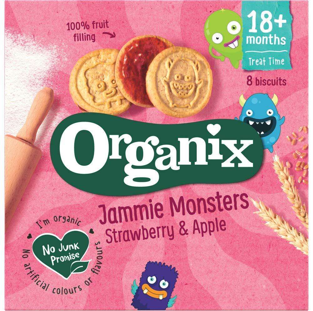 Organix Jammie Monsters Strawberry And Apple 64 g