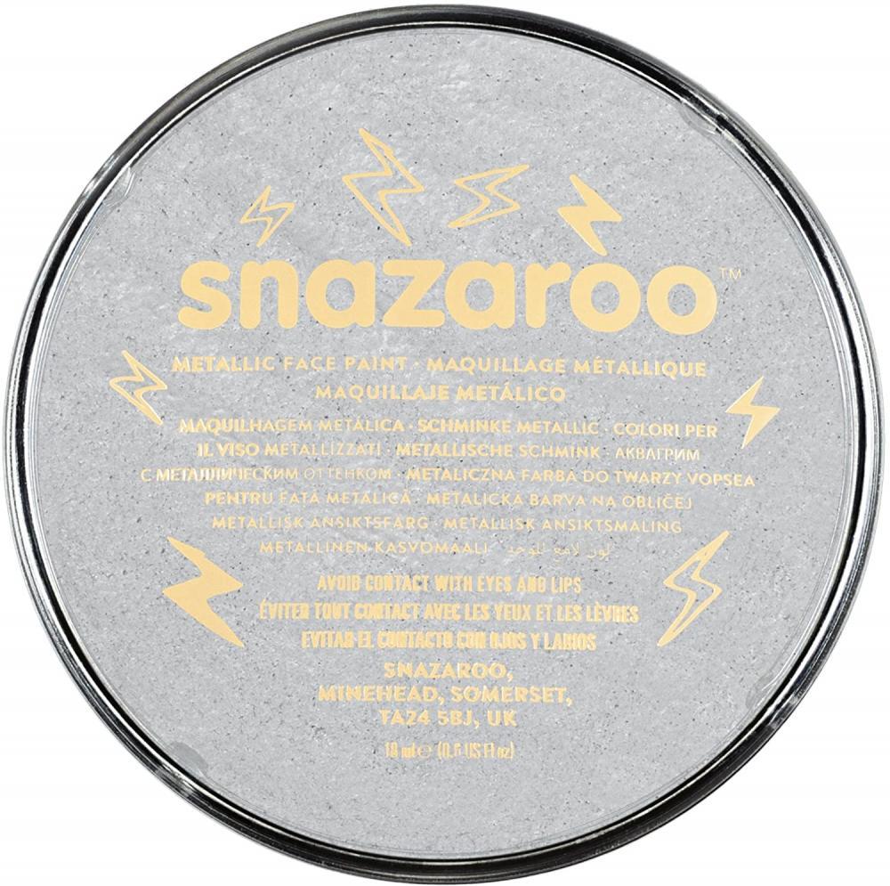 Snazaroo Face and Body Paint Metallic Silver 18ml