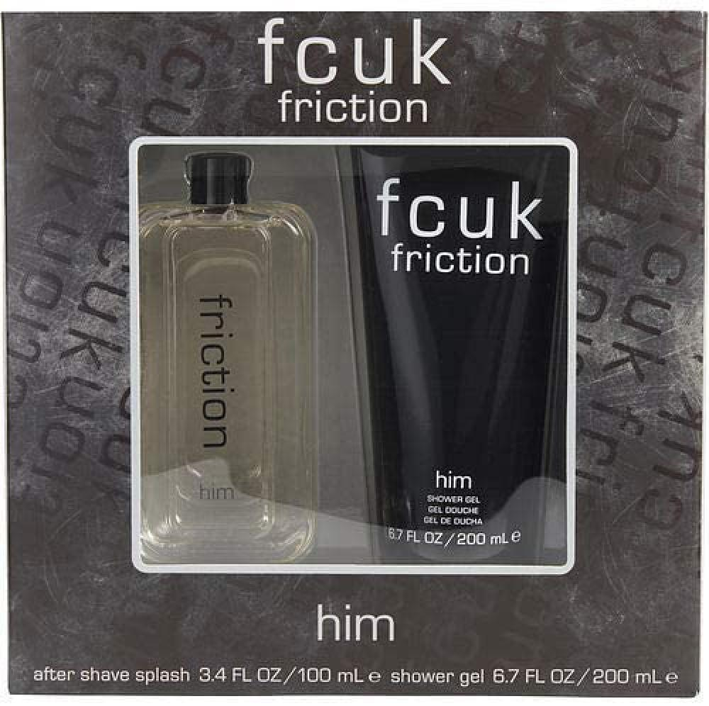 SALE  French Connection fcuk Friction For Him Aftershave Splash Gift Set 100 ml