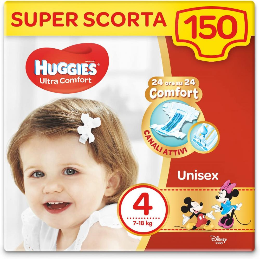 Huggies Ultra Comfort Nappies Size 4 7-18 kg 50 nappies
