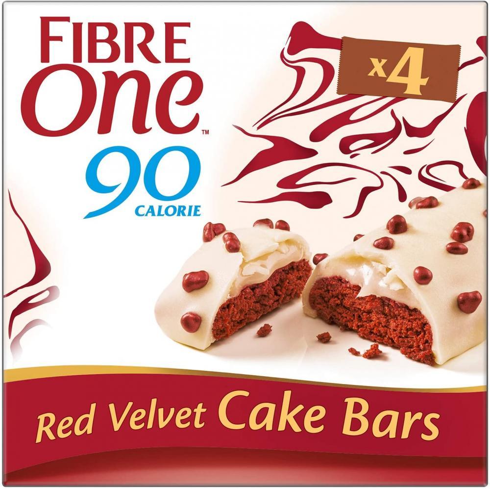 Fibre One 90 Calorie Red Velvet High Fibre Cake Bars 4 x 25g