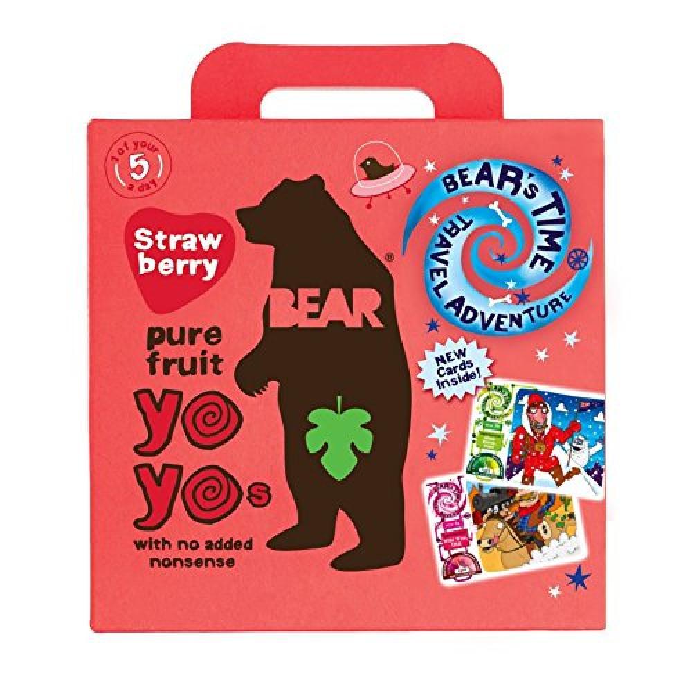 Bear Yo Yos Pure Fruit Strawberry Family Pack 5x20g Damaged Box