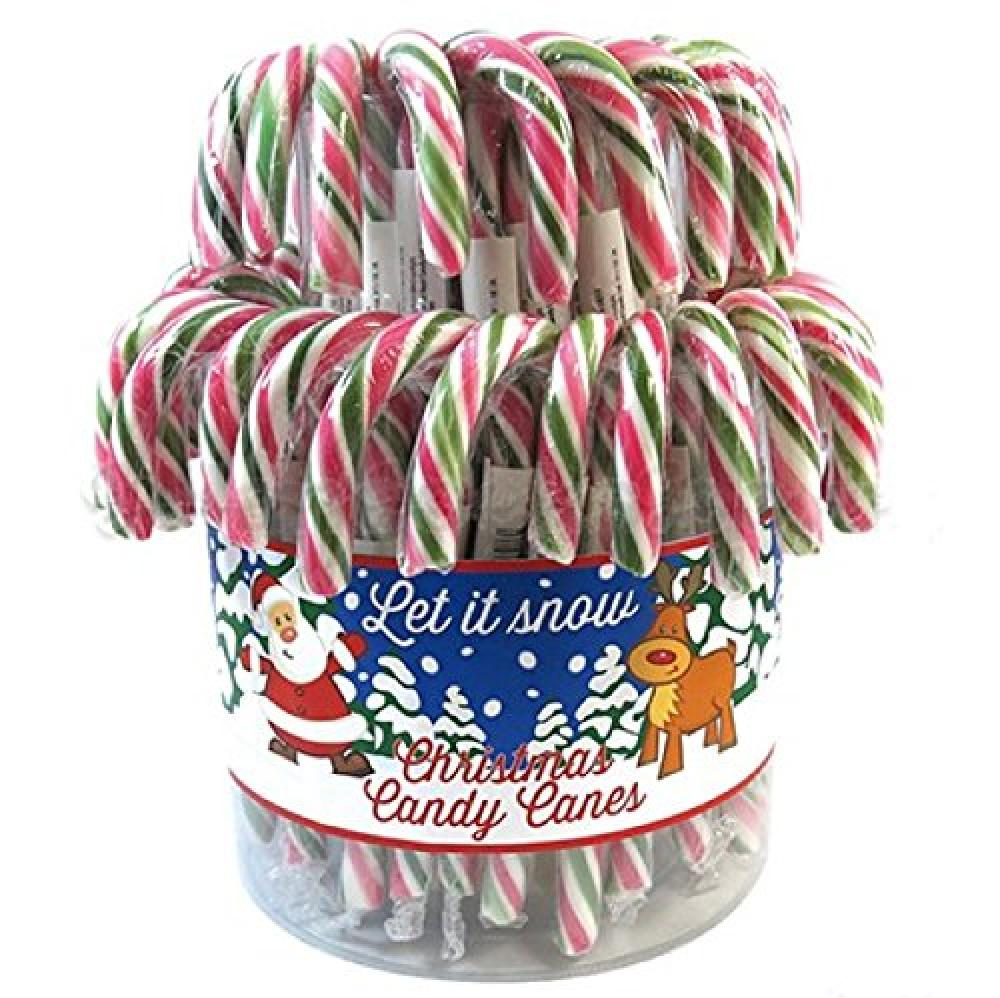 Kingsway Green Red Christmas Candy Canes 14cm 20g
