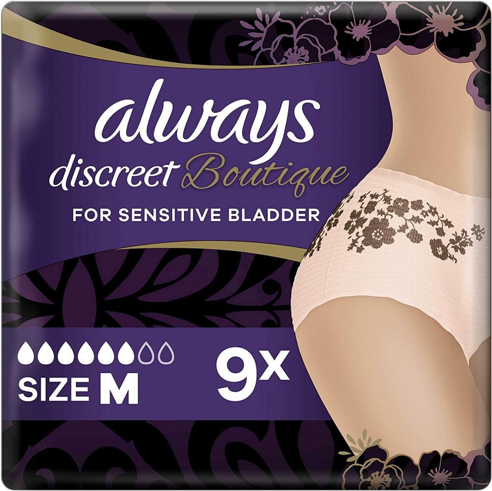 Always Discreet Boutique Underwear Incontinence Pants Plus Medium (9 Pants)