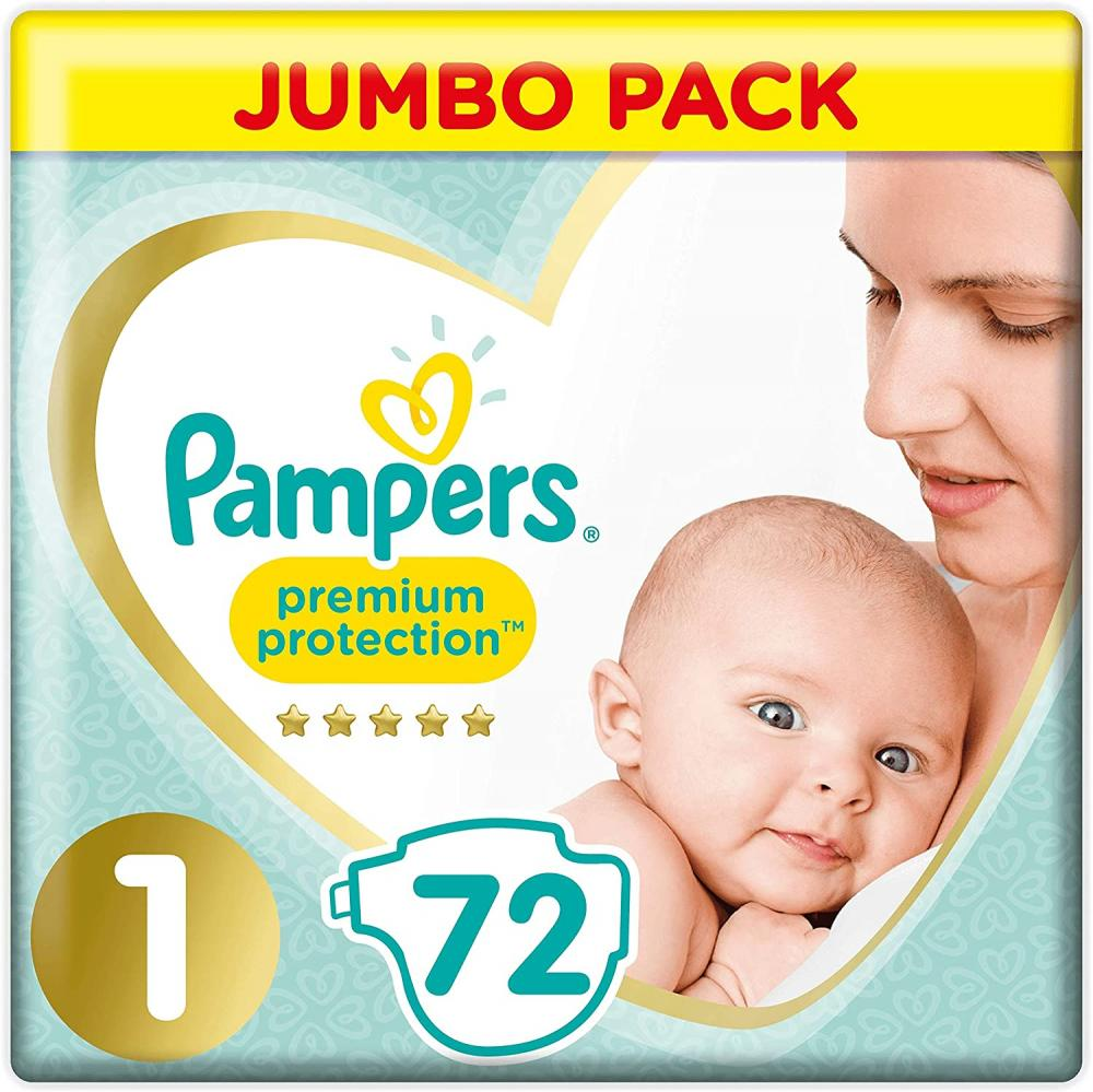Pampers Premium Protection Size 1 2-5kg 72 nappies