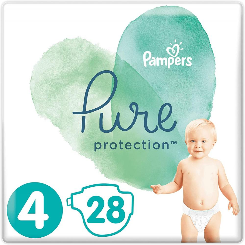Pampers Pure Protection Size 4 28 Nappies