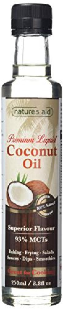 Natures Aid Liquid Coconut Oil 250ml