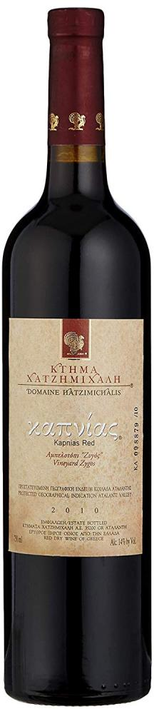 Domaine Hatzimichalis Kapnias Red Greek Red Dry Wine 75cl 2010