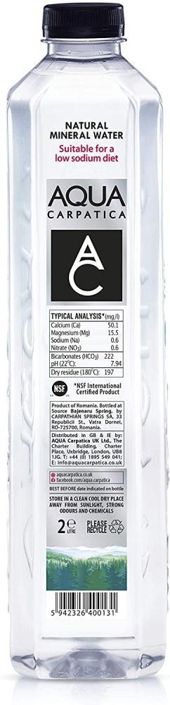 Aqua Carpatica Natural Still Mineral Water 2L