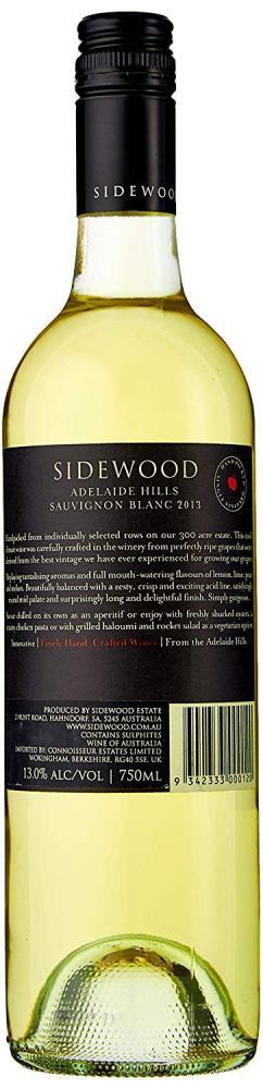 Sidewood Sauvignon Blanc Wine 75cl 2013