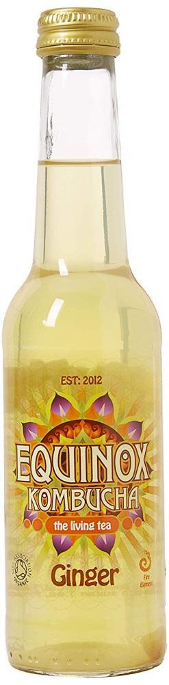 Equinox Kombucha Organic Ginger Fizzy Drink 275ml