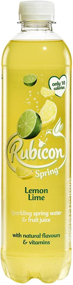 Rubicon Spring Lemon Lime Flavoured Sparkling Spring Water 500ml