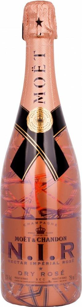 Moet and Chandon N.I.R. Nectar Imperial Rose Dry Rose Champagne 75cl