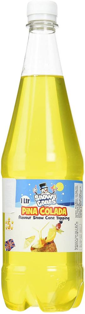 Snowycones Sugar Free Syrup for Snow Cones and Shaved Ice Candy Floss Pina Colada 1L