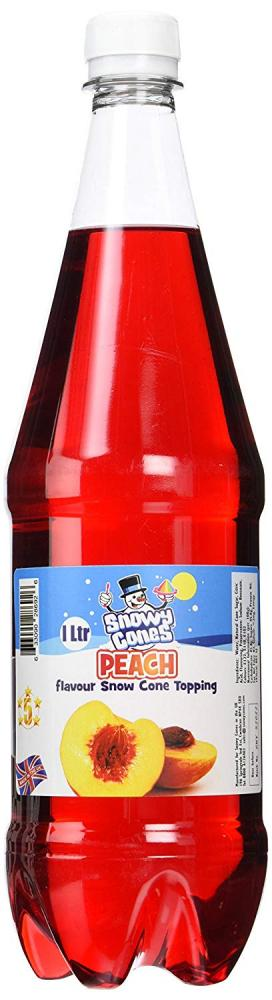 Snowycones Syrup for Snow Cones and Shaved Ice Peach Flavour 1L