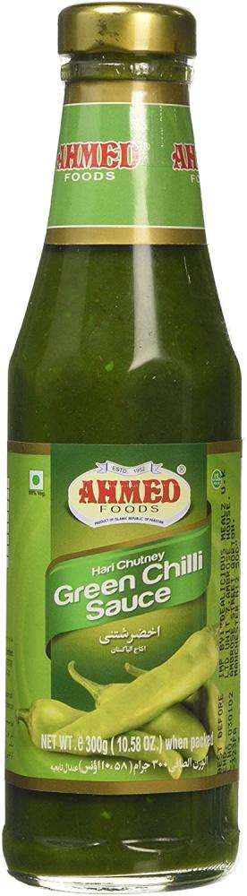 Ahmed Foods Hari Chutney Green Chilli Sauce in Bottle 300g