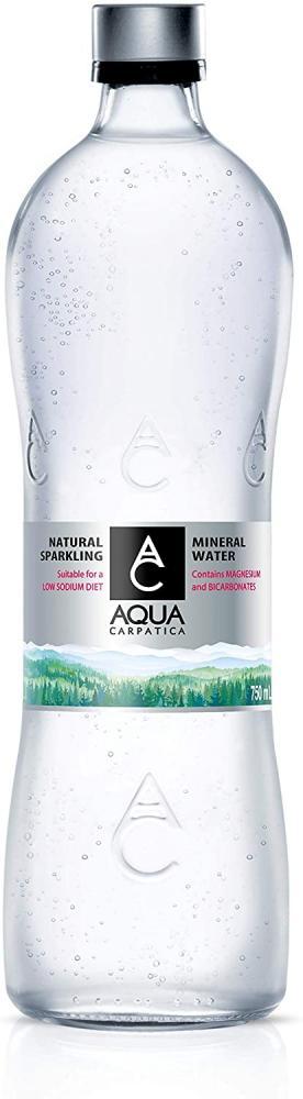Aqua Carpatica Natural Sparkling Mineral Water Glass 750ml