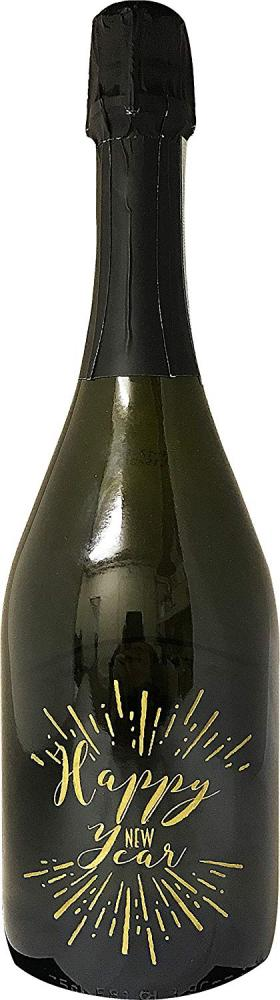 Fine Wine Sellers Happy New Year Engraved and Hand Painted Autreau Champagne 75cl