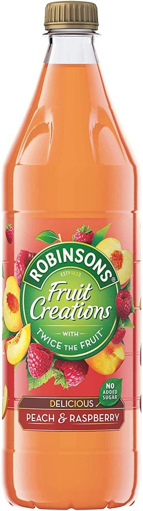 Robinsons Fruit Creations Delicios Peach And Raspberry 1 Litre