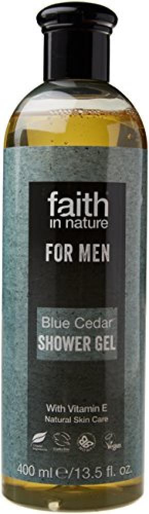 Faith In Nature Blue Cedar Shower Gel for Men