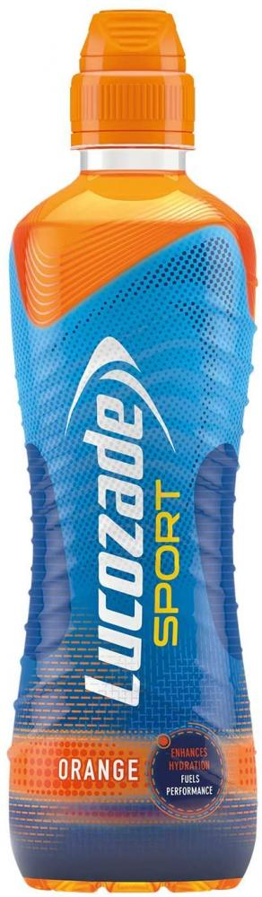 Lucozade Isotonic Sports Drink Made with Sugars and Sweetners Orange 500 ml