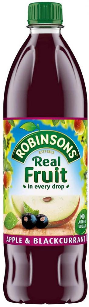 Robinson Apple and Blackcurrant No Added Sugar 1L
