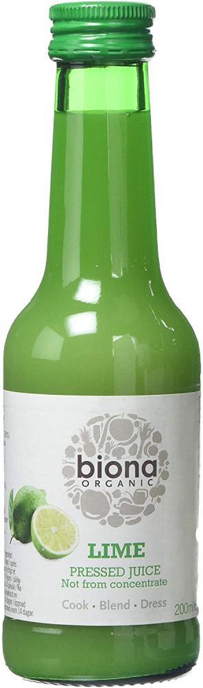 Biona Organic Lime Juice 200ml