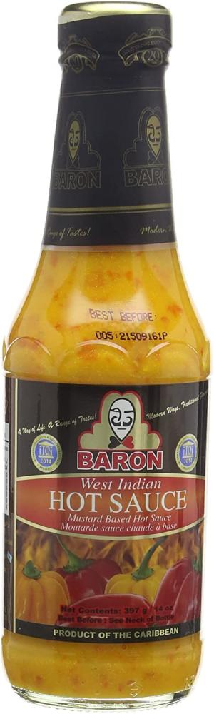 Baron West Indian Hot Sauce Large 397 ml