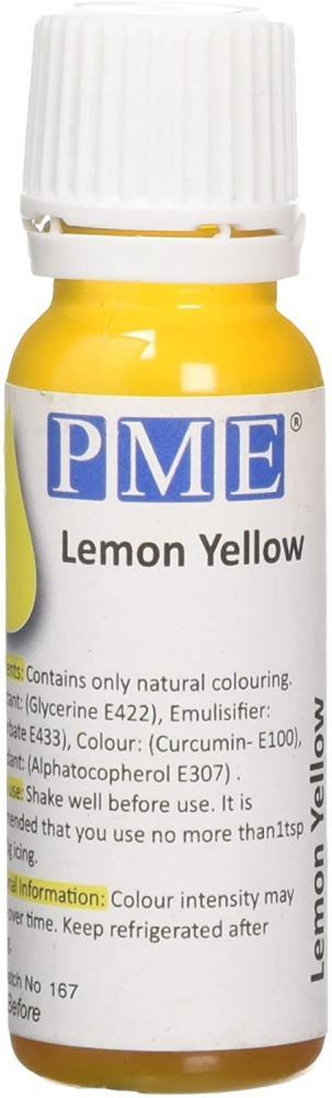 PME Natural Food Colouring Lemon Yellow 25g