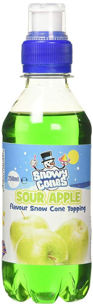 Snowycones Sour Apple Flavour Snow Cone Topping 250 ml