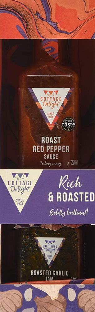 Cottage Delight Rich and Roasted Set Red Pepper Sauce and Roasted Garlic Jam