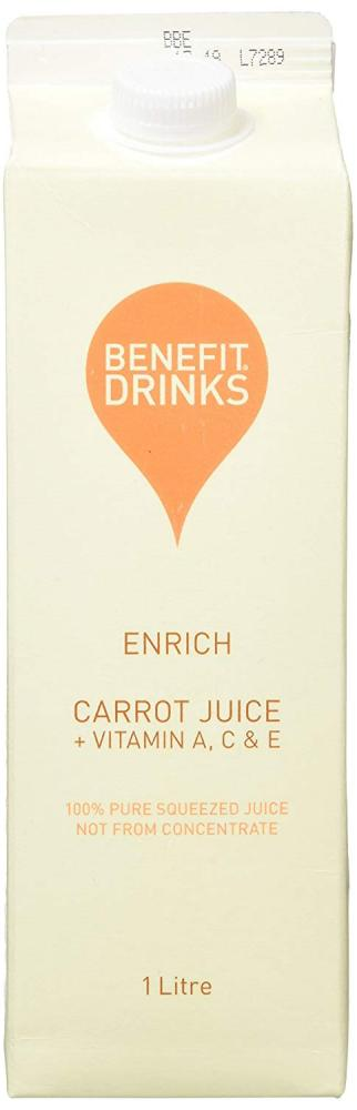 Benefit Drinks 100 Percent Pure Carrot Juice Plus Vitamin ACE 1L