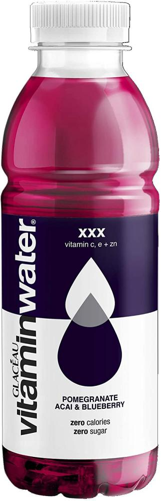 SALE  Glaceau Vitamin Water XXX Pomegranate Acai and Blueberry 500ml