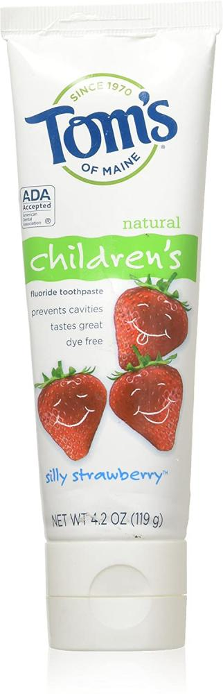 Toms Of Maine Childrens Natural Toothpaste Silly Strawberry 119g