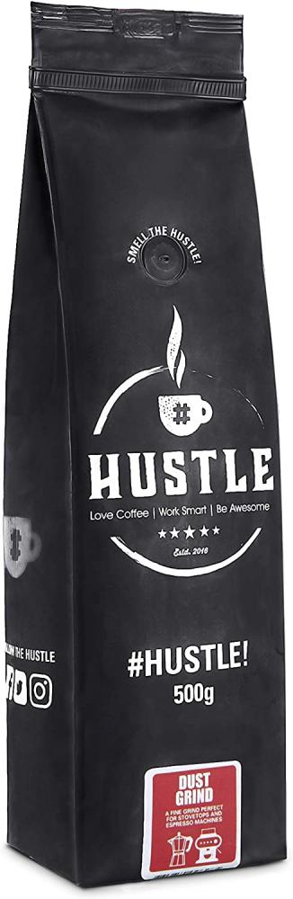 HustleCoffee Ground Coffee and Robust Flavour Selected from The Strongest Dust Grind 500g
