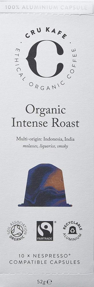CRU Kafe Organic Intense Roast 10 Coffee Capsules 52g
