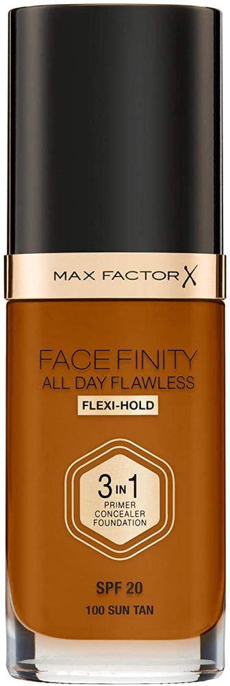 SALE  Max Factor Facefinity 3-in-1 All Day Flawless Foundation SPF 20 100 Sun Tan 30 ml
