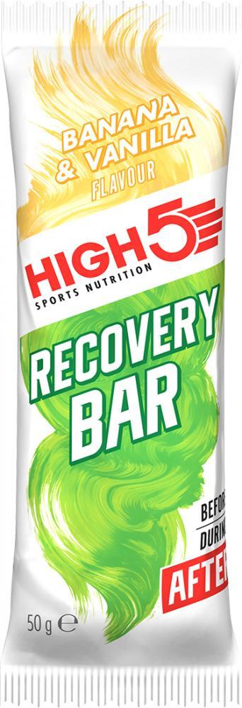 High 5 Sports Nutrition Recovery Bar Banana and Vanilla 50 g