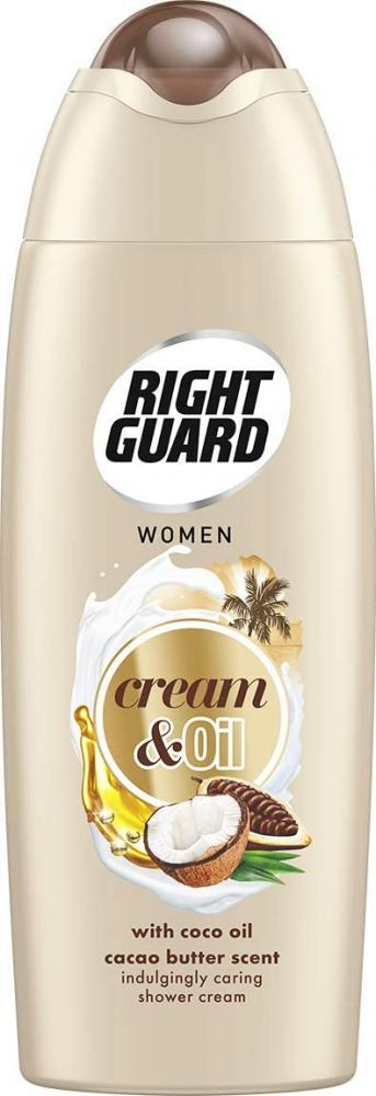 Right Guard Women Shower Cream and Oil with Cacao Butter Scent Shower Gel 250 ml