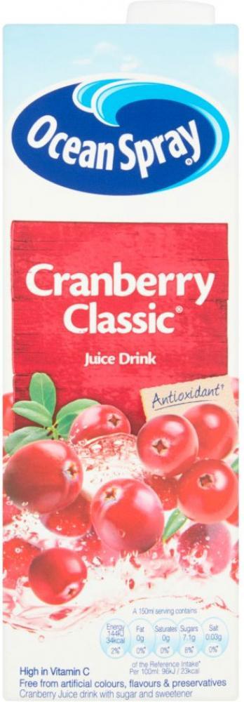 Ocean Spray Cranberry Classic Juice Drink 1 Litre