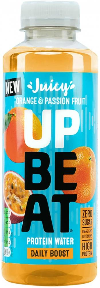Up Be At Juicy Protein Water Orange and Passion Fruit 500 ml