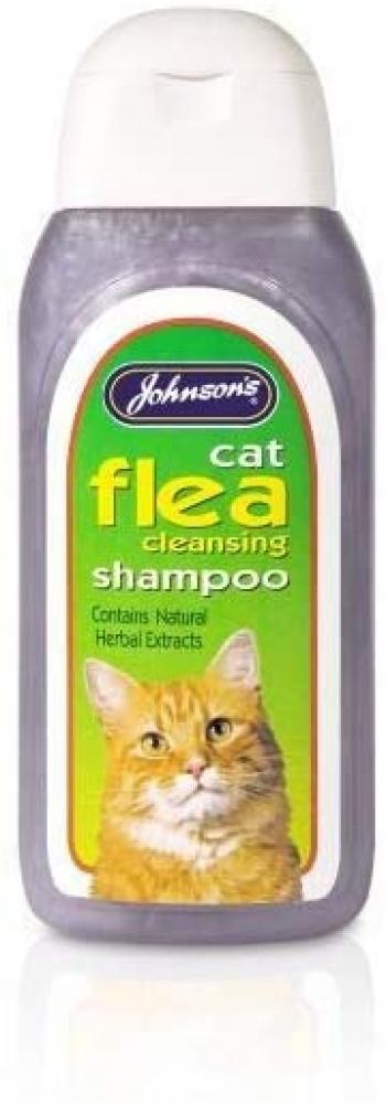 Johnsons Vet Cat Flea Cleansing Shampoo 125ml