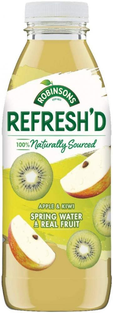 Robinson Flavoured Spring Water Real Fruit Apple and Kiwi 500ml