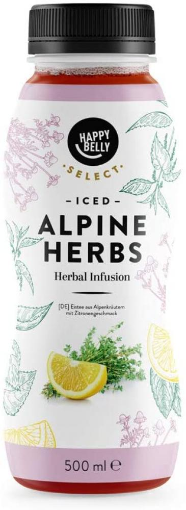 WEEKLY DEAL  Happy Belly Iced Tea Alpine Herbs 500 ml
