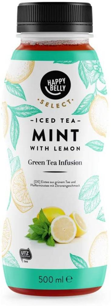 WEEKLY DEAL  Happy Belly Select Iced Tea Green Tea with Mint 500ml