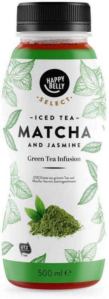 Happy Belly Select Iced Tea Matcha And Jasmine 500 ml