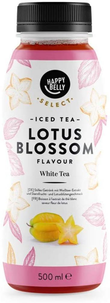 Happy Belly Select Iced Tea White Tea And Lotus Blossom 500ml