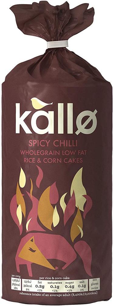Kallo Hint of Real Chilli Rice Cakes 124g